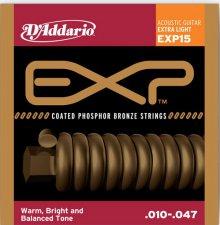 Струны D'Addario EXP15 Phosphor Bronze