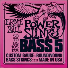 Струны Ernie Ball BASS 5-STR POWER 2821