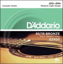 Струны D'Addario EZ920 AMERICAN BRONZE