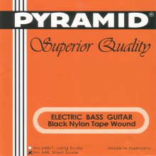 Струны Pyramid Bass Black Nylon short 648