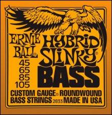 Струны Ernie Ball BASS  HYBRID SLINKY 2833