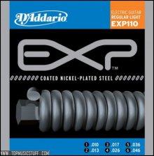 Струны D'Addario EXP110 COATED NICKEL