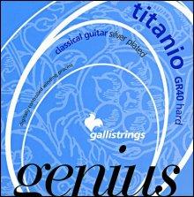 Струны GALLISTRINGS GENIUS TITANIO GR40