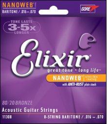 Струны Elixir Nanoweb 11308
