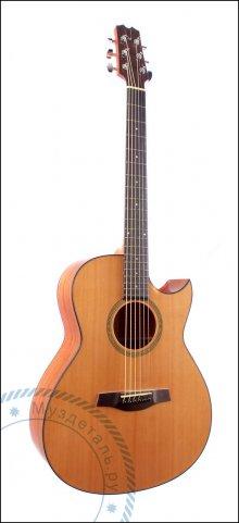 Гитара акустическая AMK A-style Solid Red CUT