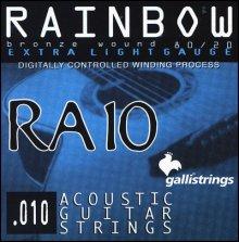 Струны GALLISTRINGS RAINBOW RA10