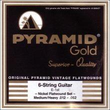 Струны Pyramid Gold Nickel Flatwound 412
