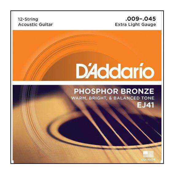 Струны D'Addario EJ41 PHOSPHOR BRONZE 12-str.