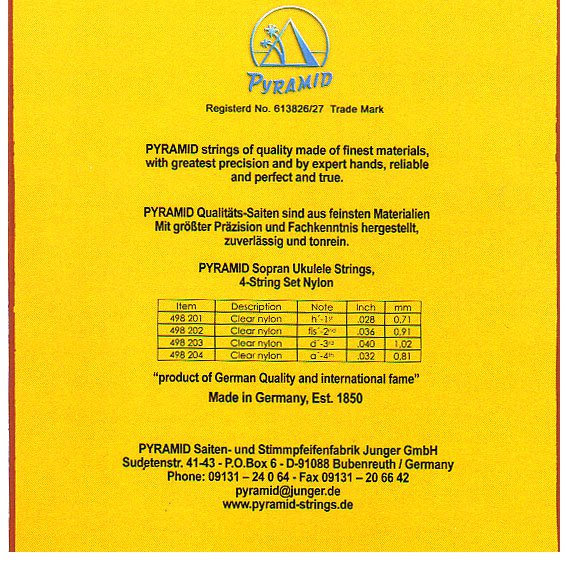 Струны Pyramid Ukulele Sopran Nylon 498200