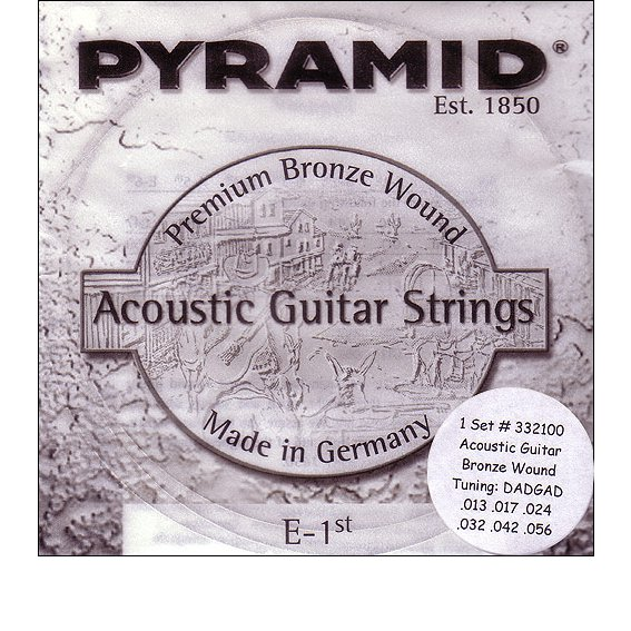 Струны Pyramid Acoustic Guitar Bronze DADGAD 332100